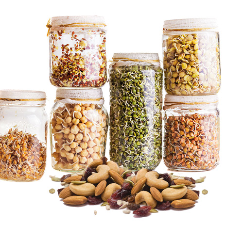 Face oils from nuts and grains