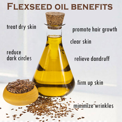 Flexseed oil for skin