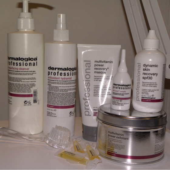 Dermalogica products for Facials