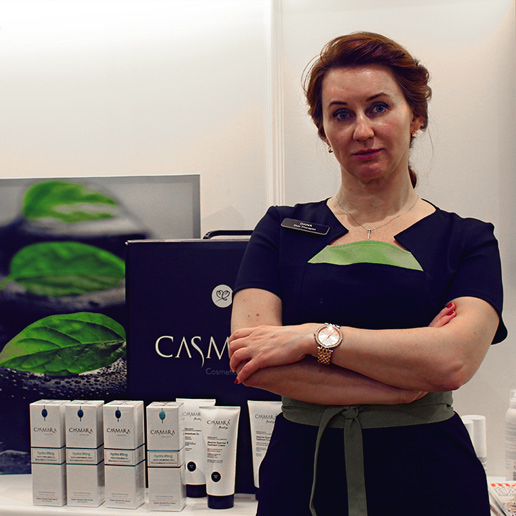 Skincare Therapist Dana with Casmara products